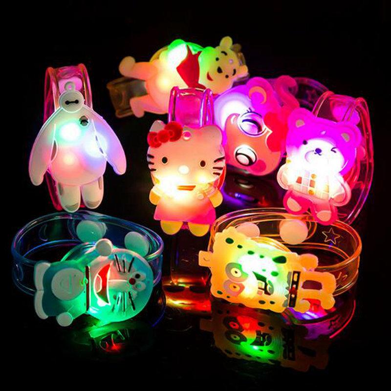 Light Up Toys Colorful Cartoon Cartoon-Watch Doraemon Hello Kitty Movie Led Toys Novelty Cute Luminous Glowing Christmas Gift(China (Mainland))