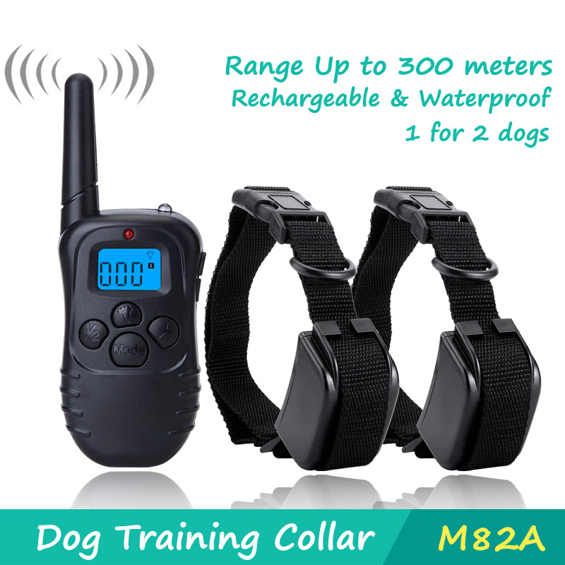 DeeiPet Dog Training Collar with Wireless Remote WaterProof&Rechargeable Control Operation for 2 dogs shock collar(China (Mainland))