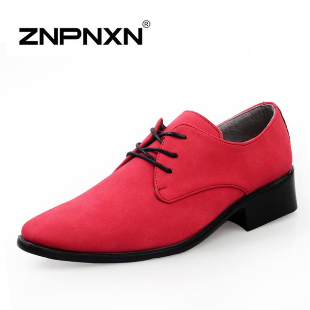 [ Znpnxnshoes ] мода оксфорд обувь для мужчин туфли зашнуровать черный мужской обуви ...