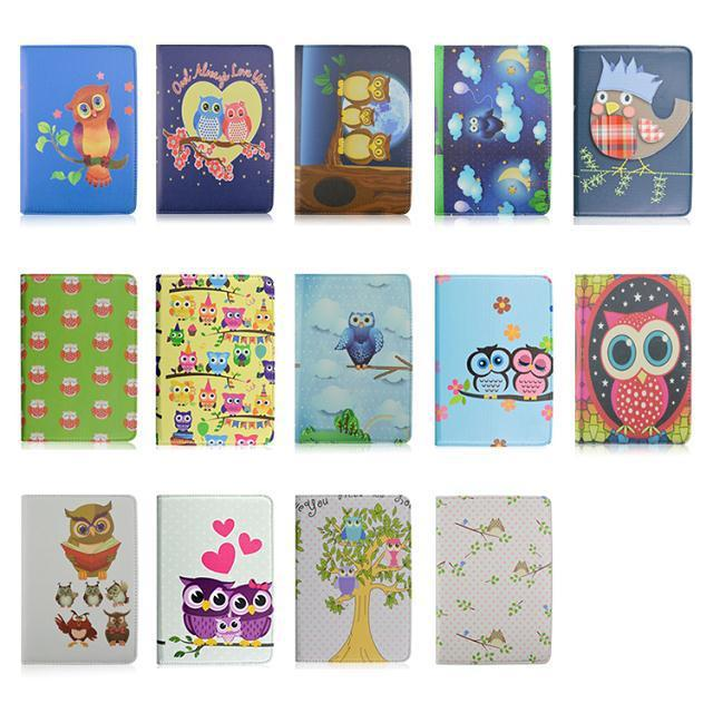 2014 New Smart PU Leather Case Cover OWL Printed Apple ipad mini hard Shell Stand Cases pen&film - feiyang store