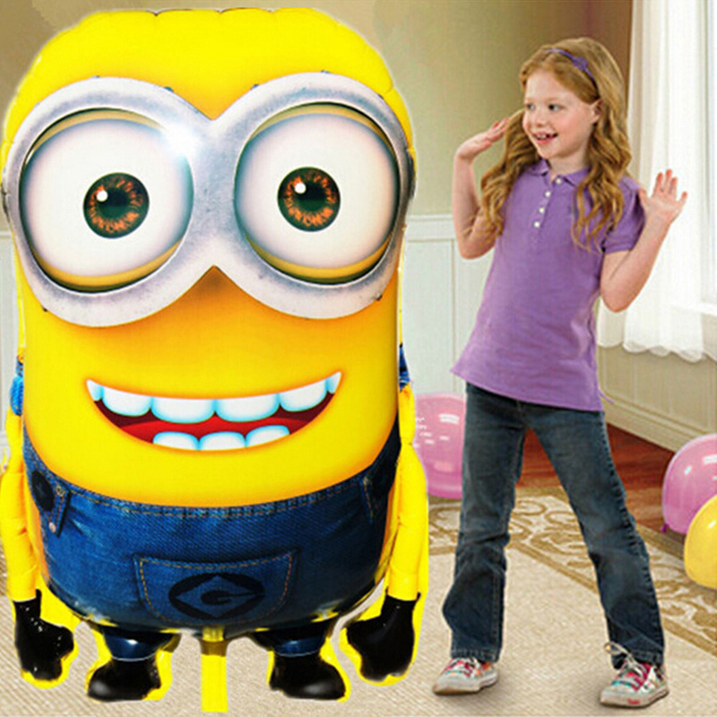 1PCS 92*65cm Hot Sale Minions Inflatable Balloons Despicable Me 2 Large Size Foil Balloons Cartoon Kids Classic Toys(China (Mainland))