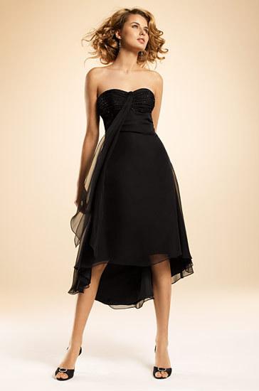 Tea Length Black Bridesmaid Dresses - Ocodea.com