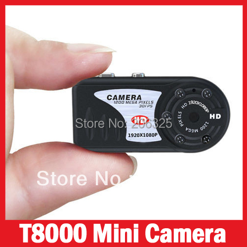 T8000 Full HD 1080P Metal Hidden Mini Camcorder Mini Camera All Metal Body Thumb 1080P DVR with Night Vision Recorder HD DVR(China (Mainland))