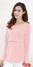 11 Colors Maternity Nursing Top Clothing for Feeding Velvet Warm Breastfeeding Tops Clothes Long-sleeved Breast Feeding T-shirts(China (Mainland))