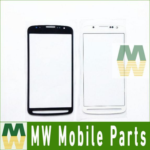 For Sumsung Galaxy S4 Active i9295 Front Glass Outer Lens Glass Replacement Black &White Color 20PCS/Lot Free DHL EMS(China (Mainland))