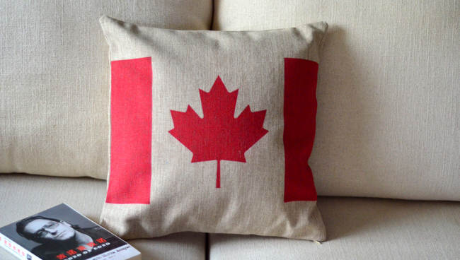 Canadienne drapeau national oreiller coussin couvre sofa chaise coussins shab - Decoration shabby en ligne ...