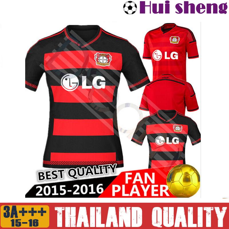 New 2015 bayer leverkusen football jersey shirt Thai AA + + + 2015-16 Roger schmidt ballack kirsten Ramello custom jersey(China (Mainland))