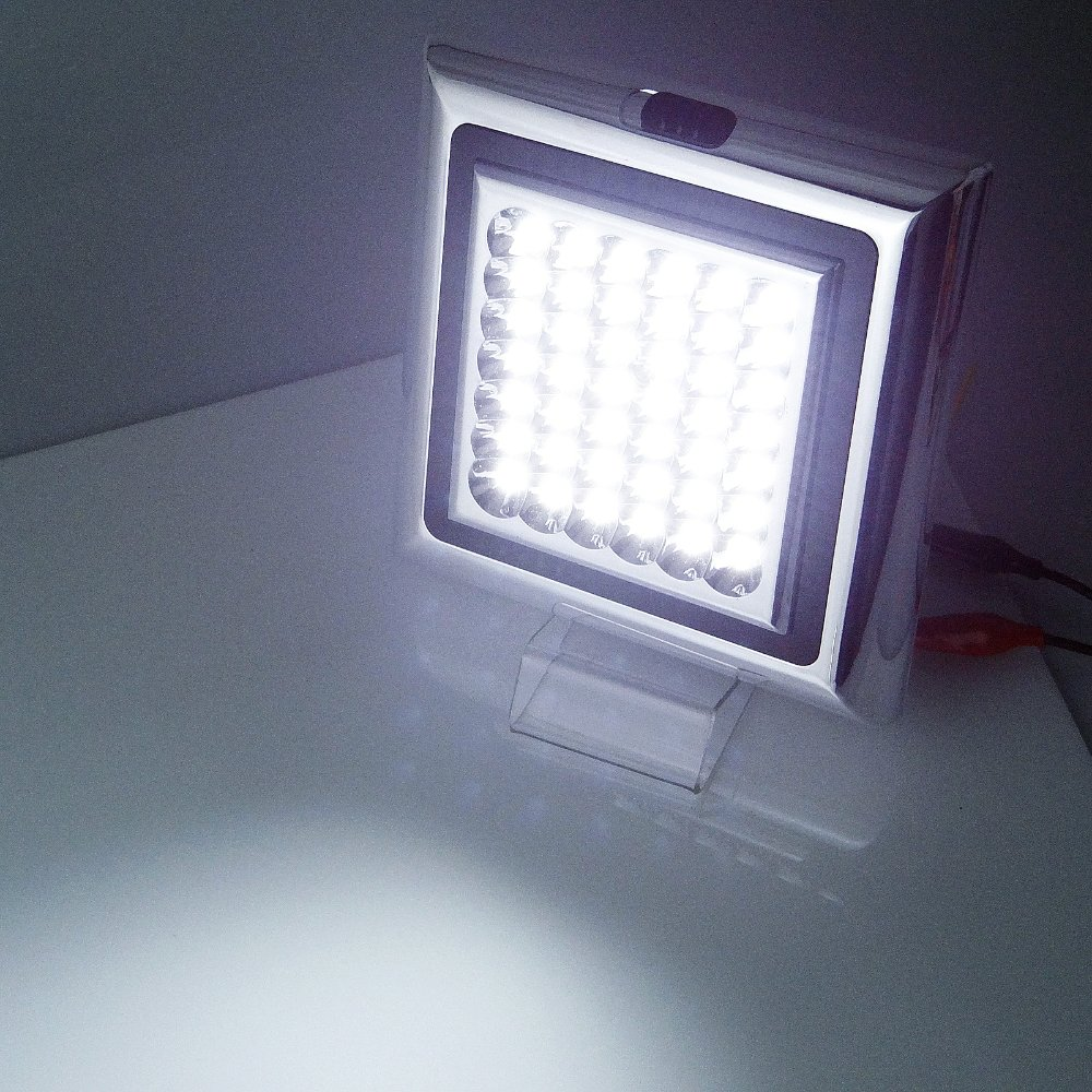 white super bright square 12v 42 led interior cabin light car boat caravan suv in interior. Black Bedroom Furniture Sets. Home Design Ideas