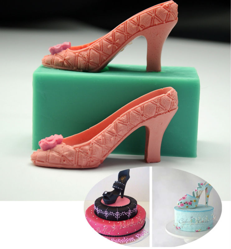 Cake Craft And Decoration Download Free : Fashion girl High heeled shoes wedding candy mold fondant ...