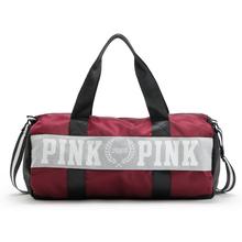 2016 New Women VS Love Pink Brand Fringe Handbags Large Capacity Travel Duffle Striped Waterproof Beach Bag Shoulder Bag(China (Mainland))