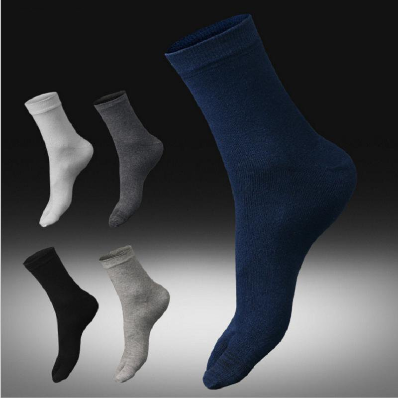 Newest arrivals spring and autumn man bussiness toe sock cotton sweat absorbing antibacterial black white gray navy 91018(China (Mainland))