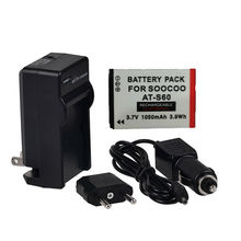1pcs soocoo AT-S60 Battery Li-ion original 1050mah with home wall charger with car charger for SooCoo S60 Sports Camera