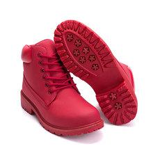2019 Hot Mới Thu Đầu Mùa Đông Giày Nữ Đế Bằng Giày Bốt Thời Trang Giữ Ấm Giày Bốt Nữ Thương Hiệu Người Phụ Nữ Mắt Cá Chân botas Ngụy Trang(China)