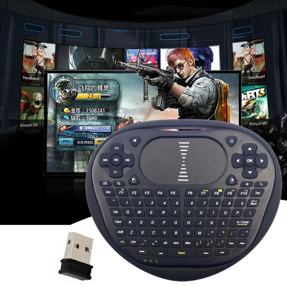 New 2016 Mini Wireless Keyboard 2.4ghz Mouse Silicon Edge Touchpad Remote Control For Android TV Box Notebook Tablet Black A273(China (Mainland))