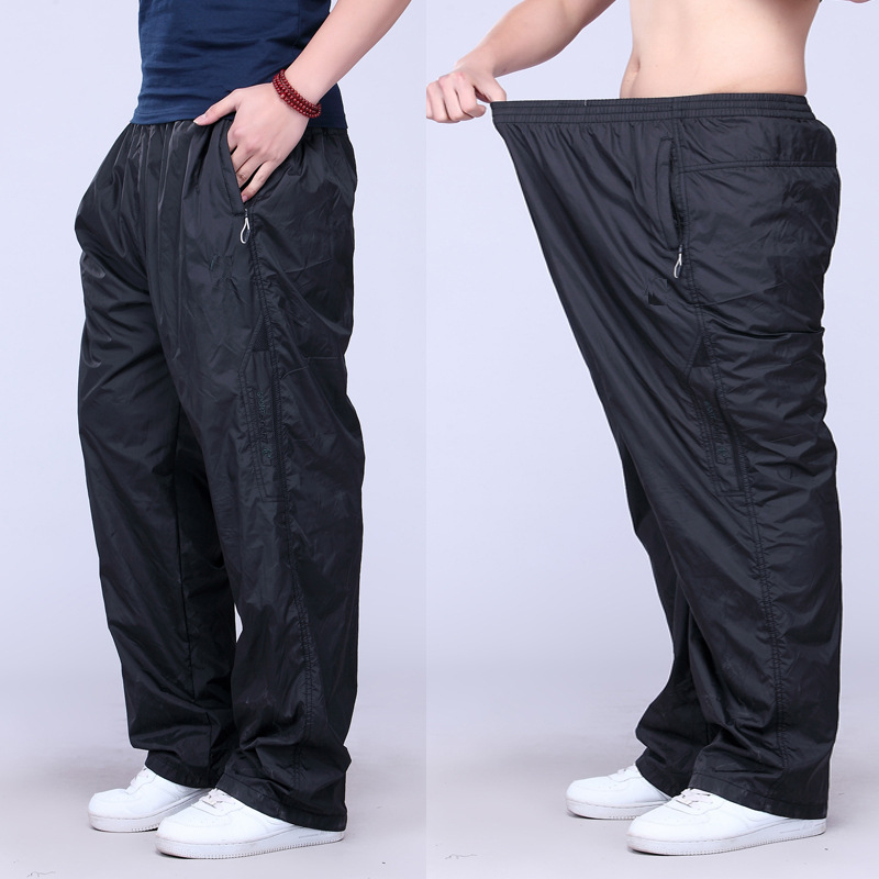 Summer Style Plus Size Mens Sport Pants And Fat Loose Men Pants Casual Thin Long Polyester Mens JoggersОдежда и ак�е��уары<br><br><br>Aliexpress