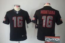 Signature youth San Francisco 49ers children 16 Joe Montana 42 Ronnie Lott 80 Jerry Rice 82 Torrey Smith 81 Anquan Boldin(China (Mainland))