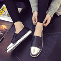 2016 New Spring Fall Fashion Flat Women Loafers Shoes Platform A Pedal Lazy Sequins Female Single