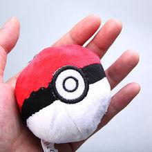 2016 Fashion New Animal Pokemon Pokeball 2.5 Lovey Toys Cute Round Stuffed Plush Pendant Toys(China (Mainland))