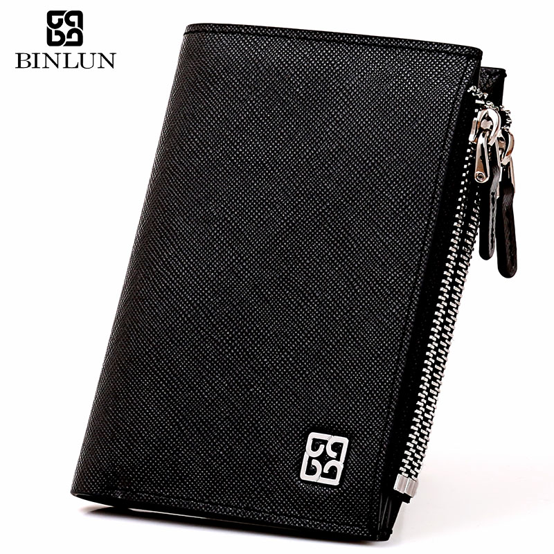 new men Binlun male  cross first layer of cowhide fashion  male multi card holder zipper compartment   wallet<br><br>Aliexpress