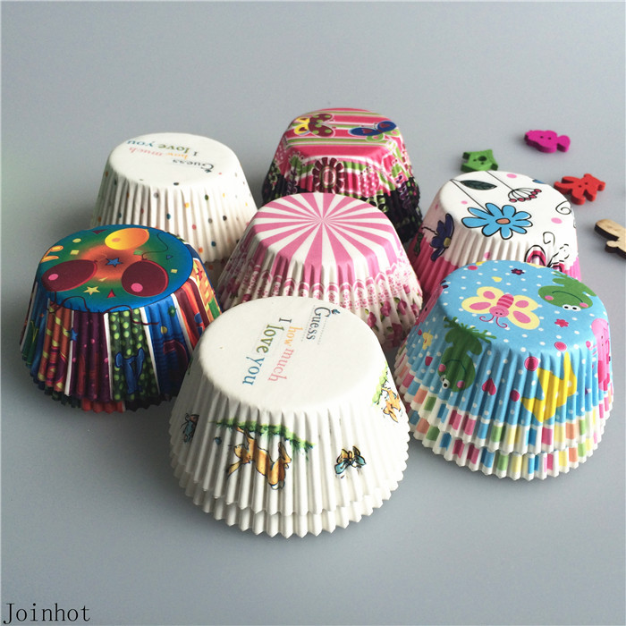 Hot 100 pcs/lot Baking Tools Paper Cupcake Liners Cupcake wrappers Muffin Cases Mix Color Paper Cake Cooking Cups(China (Mainland))
