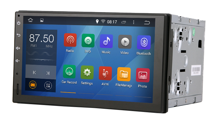 Pure android 4.4.4 Universal Car two din Console 176mm*101mm 2 din with Capacitive screen 1.6G CPU Dual Core 1G RAM Radio(China (Mainland))