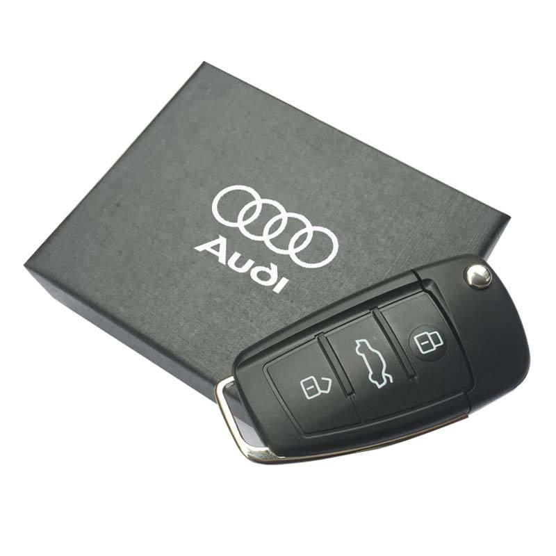 Car Key Usb Stick For Audi Gift Usb Flash Drive Creative Pen Drive 128GB 64GB 32GB 16GB 8GB Free Shipping Pass H2testw Pendrive(China (Mainland))