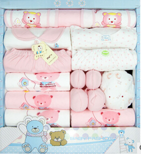 free shipping! new 2015 100% cotton newborn baby clothing sets 16pcs infants suit baby girls boys clothes(China (Mainland))