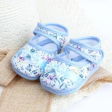 Baby Girl Shoes Flower Printed Toddler Infants Bowknot Prewalker Size 4 5 6