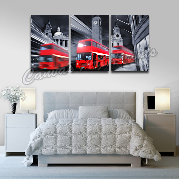 Hotselling Unframed Wall Decor Canvas Paintings London Bus