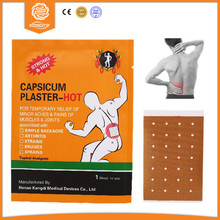 China Factory with CE Approval Upper Back Muscle Pain Relief Patch,7*10cm Capsaicin Plaster for Sciatica Back Pain,10pcs/lot