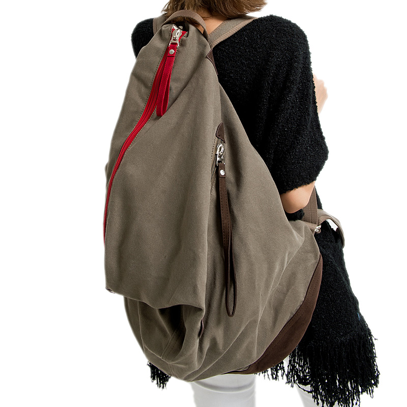 elegant canvas backpack large capacity travel bag - SEAN'S FASHION BAR store
