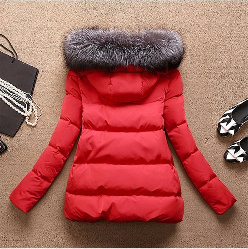 2016 Down Jacket parka  Coat Cotton Full Sleeve Covered button with pocket women hooded Feathers Winter Women Jackets