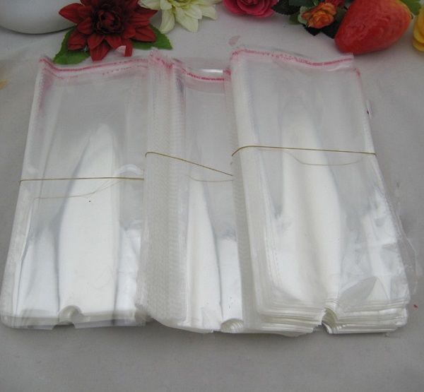 Double Layer 0.1mm Thickness Transparent Self- adhesive OPP Plastic Bags Socks Packaging Bags 11x21.5cm(China (Mainland))
