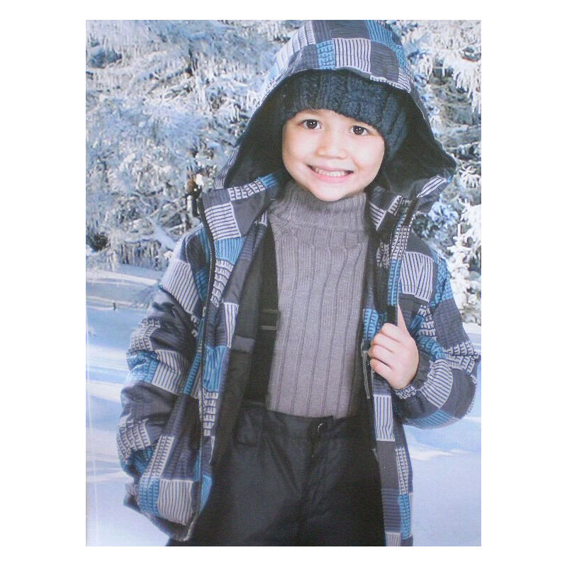 GV602 Free Shipping Kids Ski Set Children Winter Outdoor Sports Hooded Jacket and Bib Pants Boys Cotton Snowboard Hiking Suit(China (Mainland))