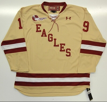 #19 CHRIS KREIDER BOSTON COLLEGE EAGLES UNDER ARMOUR ICE HOCKEY JERSEY NEW YORK RANGERS,CUSTOMIZED ANY SIZE NAME & NUMBER STITCH(China (Mainland))