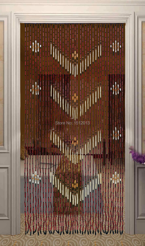 Bois de bambou perles de rideau largeur 90 cm hauteur 180 for Portillon jardin largeur 90 cm