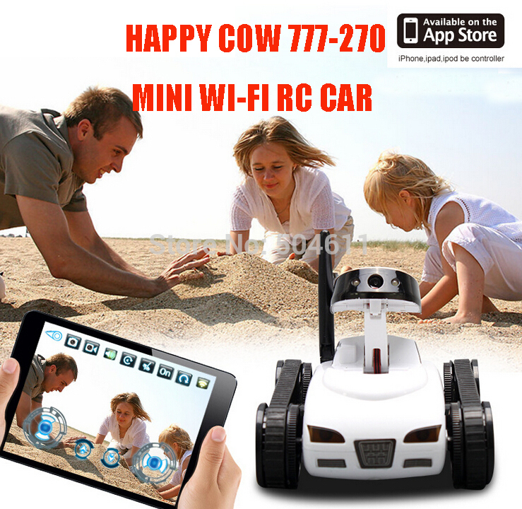 Free Shipping Happy Cow 777-270 Mini Wi-Fi RC Car w 30W Pixels Camera Support IOS phone or Android<br><br>Aliexpress