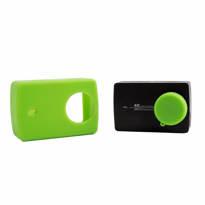 For Xiaomi Yi 4K Sport Camera Case Colorful Silicone Skin Housing With Protective Lens Cover Cap set for Xiaoyi 2 Accessories