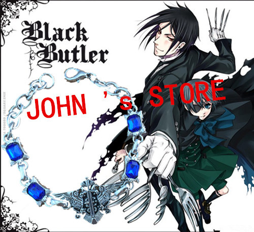 Freeshipping wholesale 20pc a lot Black Butler Bangles NBTV02<br><br>Aliexpress