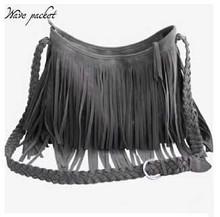 2015 Hot Sale Tassel Women Leather Handbags Cross Body Shoulder Bags Fashion Messenger Bags Suede Fringe