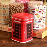 Retail Mini Tin Jewelry Box Square Candy Storage Box Random Mixed Color Delivery (KG-02)