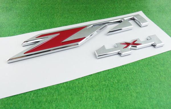 2 x Auto car chrome Red Z71 4x4 for Tahoe Silverado Suburban Sierra Emblem Badge Sticker(China (Mainland))