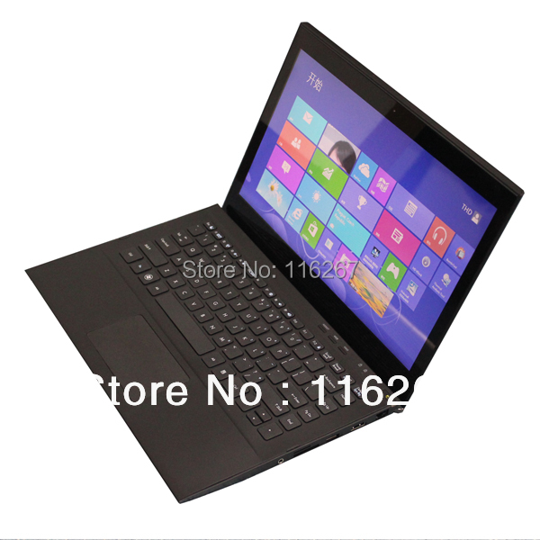 13.3inch Computer Touch Screen Laptop Intel BAY TRAIL J1900 Win7 Ultral Laptop VGA HDMI output(China (Mainland))