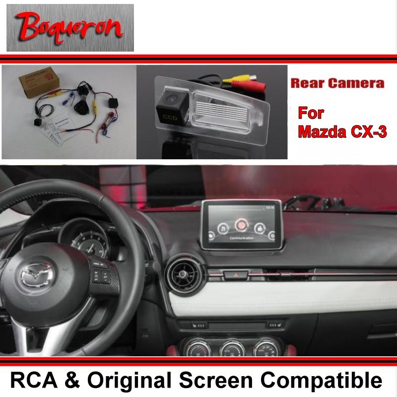 Car Rear View Camera / Back Reverse Camera Sets Mazda CX-3 CX3 CX 3 / RCA & Original Screen Compatible