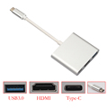 15CM Type C 3 1 Male to USB3 0 HDMI Type C Female Charger Adapter for
