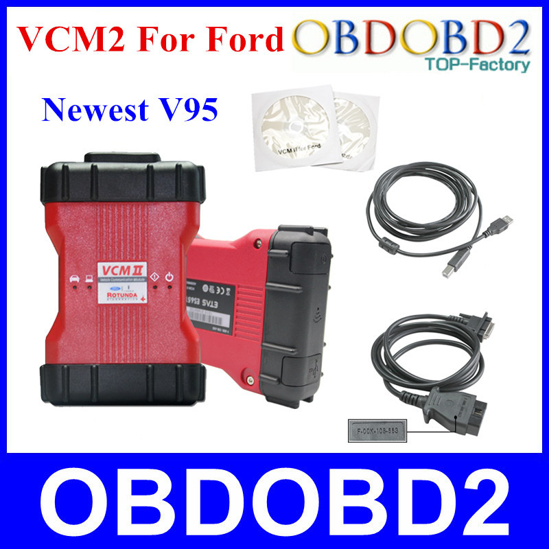 Professional Diagnostic Tool For Ford VCM II VCM 2 V95 Multi-languages VCM2 IDS For Ford and For Mazda Free Shipping(China (Mainland))
