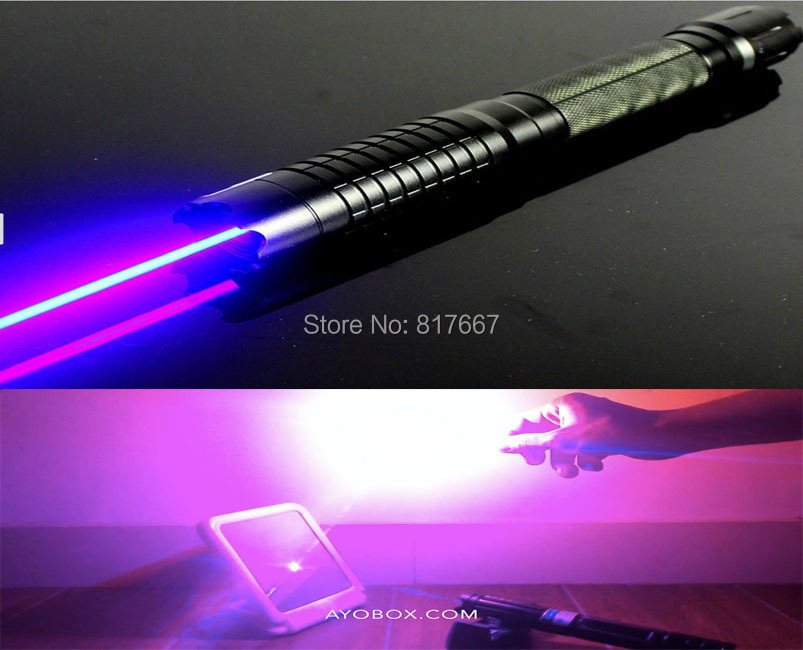 New 2w 2000mw 445nm Military Focusable Burning Blue Laser
