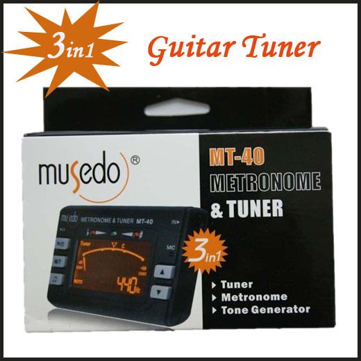 10pcs/lot Electronic Digital 3 in 1 LCD Violin Guitar Metronome Tone Generator Tuner Freeshipping Dropshipping MT-40