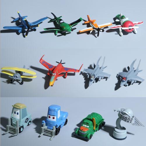 12pcs/set 4-6cm Disney Planes Racing aircraft model children's toys hand Office Desktop DecorationGirl doll toy Kids(China (Mainland))