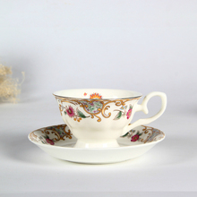European ceramic flower mugs high-grade bone china cup british suit red cup promotional gifts, holiday gifts Saucer Cafe